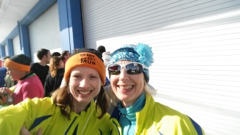 My friend and fellow MRTT runner Donna S and I celebrating our PR'S